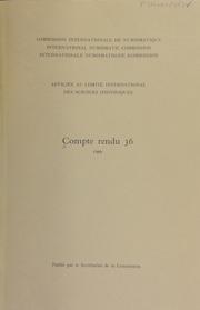 Compte rendu 36 (1989)