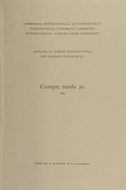 Compte rendu 39 (1992)