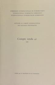 Compte rendu 41 (1994)