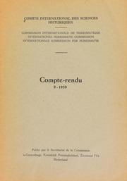 Compte-rendu 9 (1959)