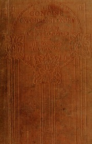 The concise Oxford dictionary of current English : Fowler
