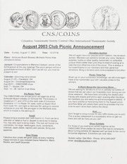 CNS/COINS Monthly Bulletin: August 2003