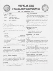 CONA Monthly Bulletin: August 2014