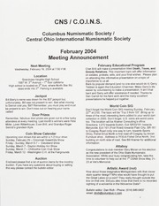 CNS/COINS Monthly Bulletin: February 2004