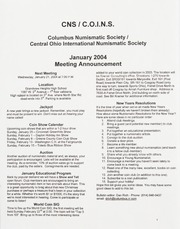 CNS/COINS Monthly Bulletin: January 2004