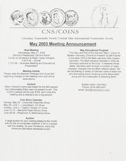 CNS/COINS Monthly Bulletin: May 2003