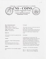 CNS/COINS Monthly Bulletin: May 2006