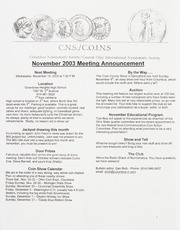 CNS/COINS Monthly Bulletin: November 2003