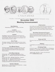 CNS/COINS Monthly Bulletin: November 2004