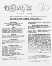 CNS/COINS Monthly Bulletin: November 2005