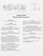 CNS/COINS Monthly Bulletin: October 2004