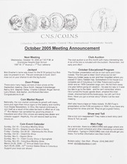 CNS/COINS Monthly Bulletin: October 2005