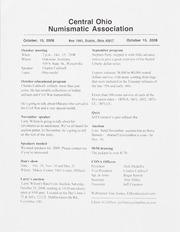 CONA Monthly Bulletin: October 2008