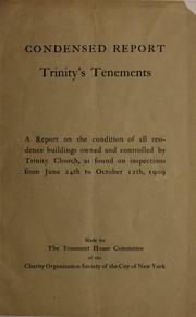 Condensed report. Trinity's...