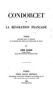 Condorcet et la révolution française