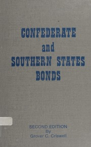 Confederate and Southern State Bonds