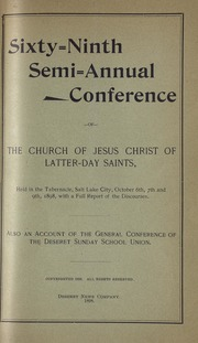Music from October 1898 General Conference (1898)