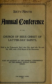 Music from April 1899 General Conference (1899)