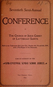 Music from October 1899 General Conference (1899)