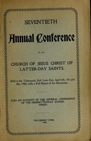 Music from April 1900 General Conference (1900)