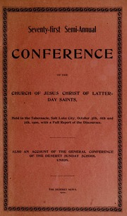 Music from October 1900 General Conference (1900)