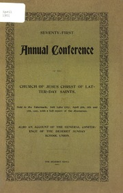 Music from April 1901 General Conference (1901)