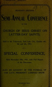 Music from October 1901 General Conference (1901)