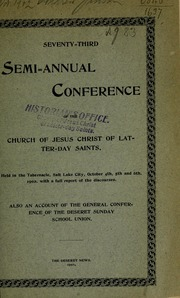Music from October 1902 General Conference (1902)
