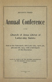 Music from April 1903 General Conference (1903)