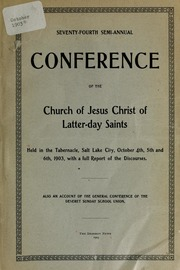 Music from October 1903 General Conference (1903)