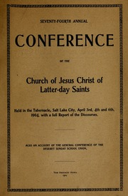Music from April 1904 General Conference (1904)