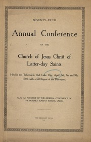 Music from April 1905 General Conference (1905)