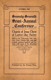 Music from October 1906 General Conference (1906)