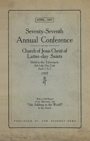 Music from April 1907 General Conference (1907)