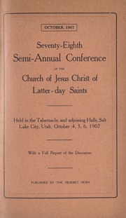 Music from October 1907 General Conference (1907)