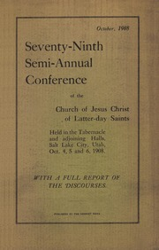 Music from October 1908 General Conference (1908)