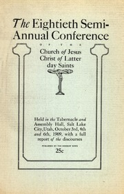 Music from October 1909 General Conference (1909)