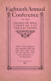 Music from April 1910 General Conference (1910)