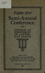 Music from October 1910 General Conference (1910)