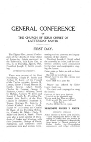Music from April 1911 General Conference (1911)