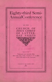 Music from October 1912 General Conference (1912)