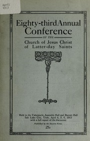 Music from April 1913 General Conference (1913)