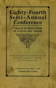 Music from October 1913 General Conference (1913)