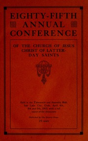 Music from April 1915 General Conference (1915)