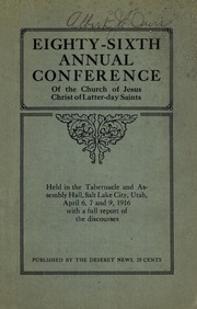 Music from April 1916 General Conference (1916)