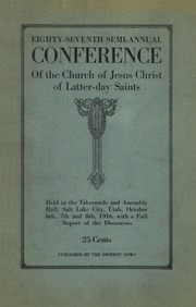 Music from October 1916 General Conference (1916)