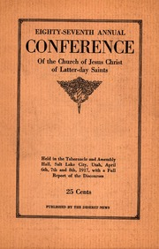 Music from April 1917 General Conference (1917)
