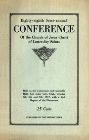 Music from October 1917 General Conference (1917)