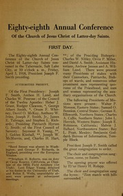 Music from April 1918 General Conference (1918)