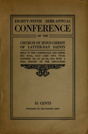 Music from October 1918 General Conference (1918)
